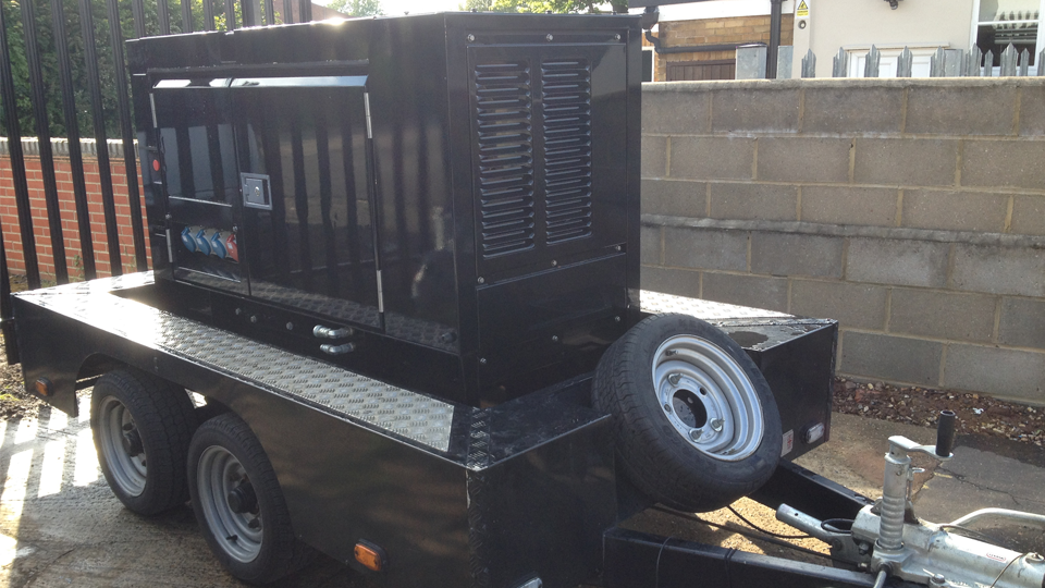Oxfordshire Stage Hire 20KVA Ultra Silent Road Towable Diesel Generator