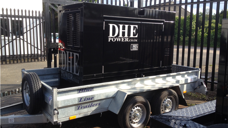 Oxfordshire Stage Hire 60KVA Ultra Silent Road Towable Diesel Generator